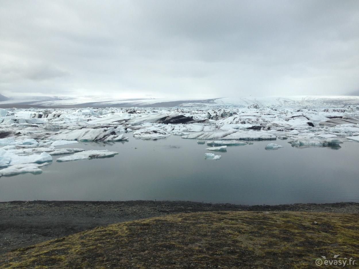 Les icebergs de Jökulsárlón en Islande