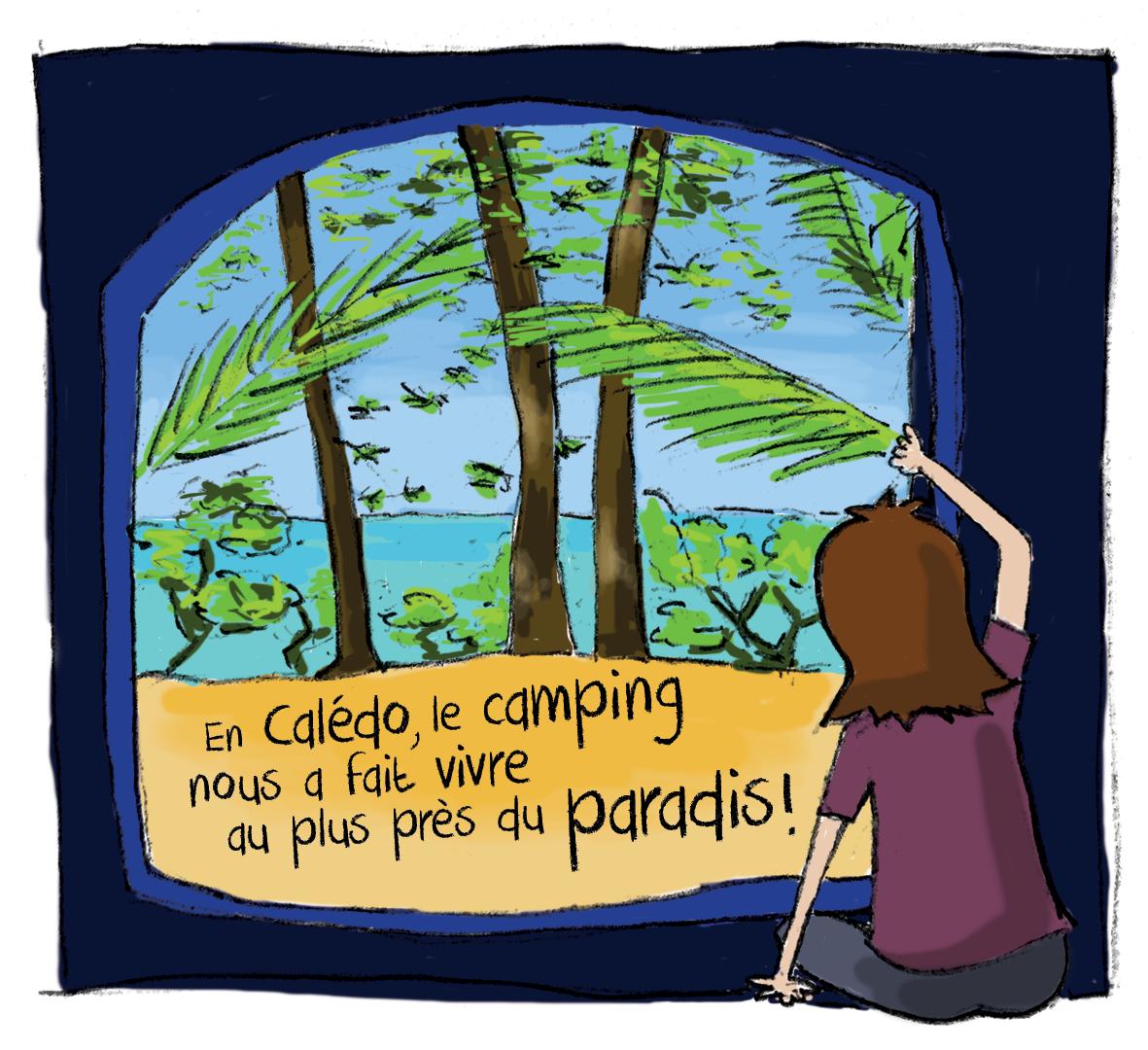 Faire du camping à l'île des Pins, c'est avoir une vue magnifique à chaque réveil