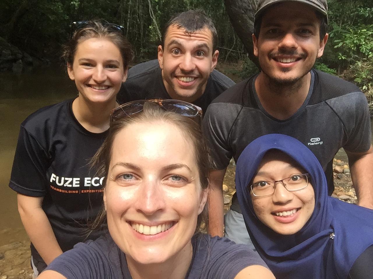 Avec l'équipe de Fuze Ecoteer dans le Taman Negara en Malaisie